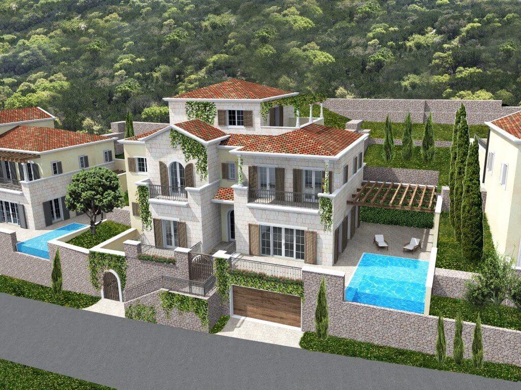 Tivat lustica bay villa under construction with for Construction villa