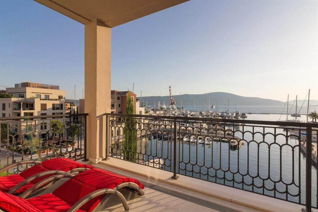 Tivat, Porto Montenegro – dvosoban apartman sa otvorenim pogledom na more