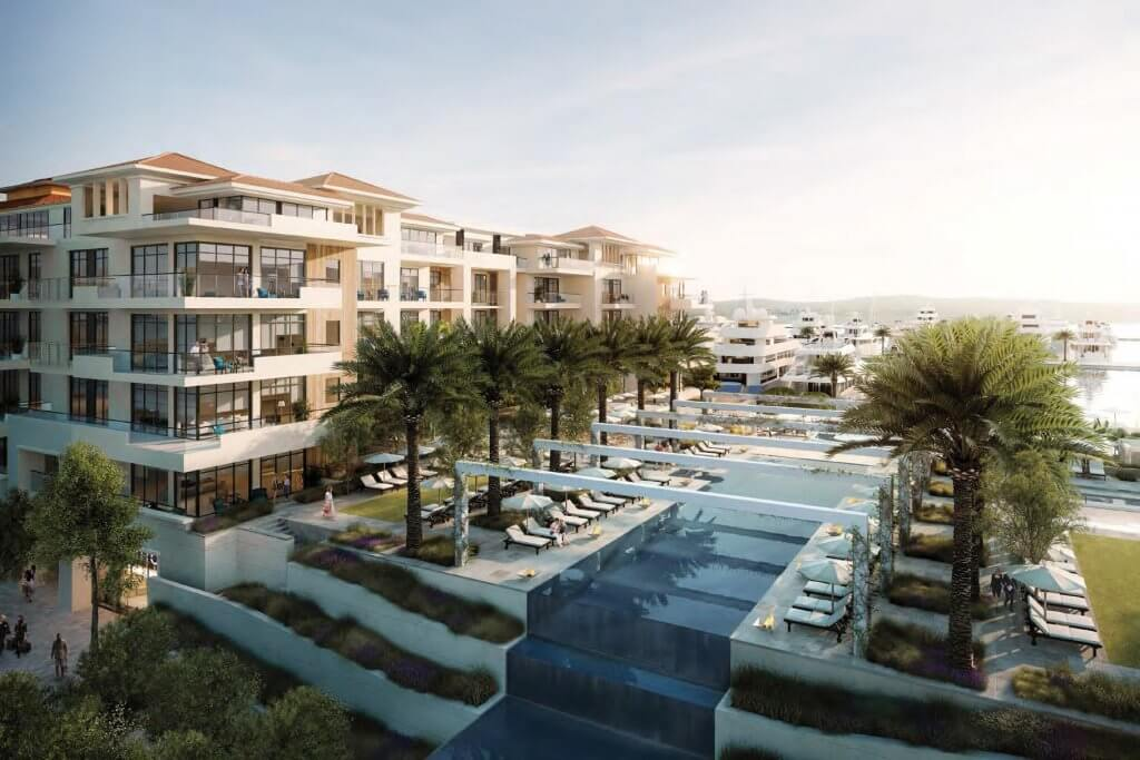 Tivat, Porto Montenegro - one bedroom apartment 81m2, Regent Pool Club Residences