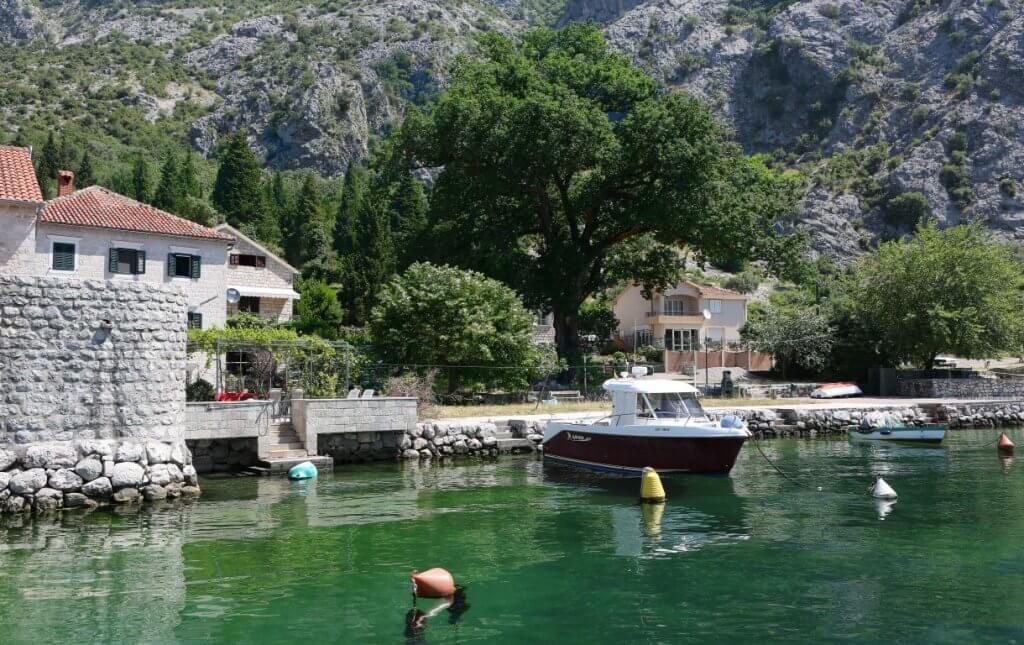 Kotor,Orahovac - waterfront stone villa 375m2