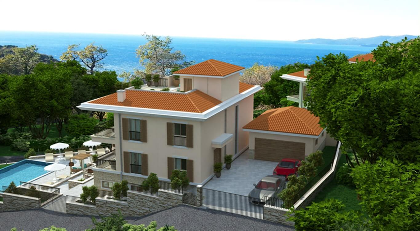 Budva, Rezevici – two villas under construction, near the sea