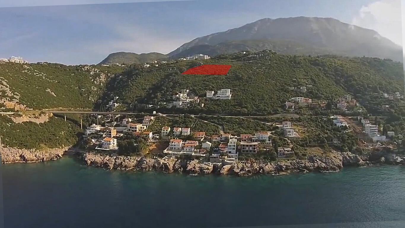 Bar, Dobre vode – urbanizovano zemljište 8.318m2 sa panoramskim pogledom na more