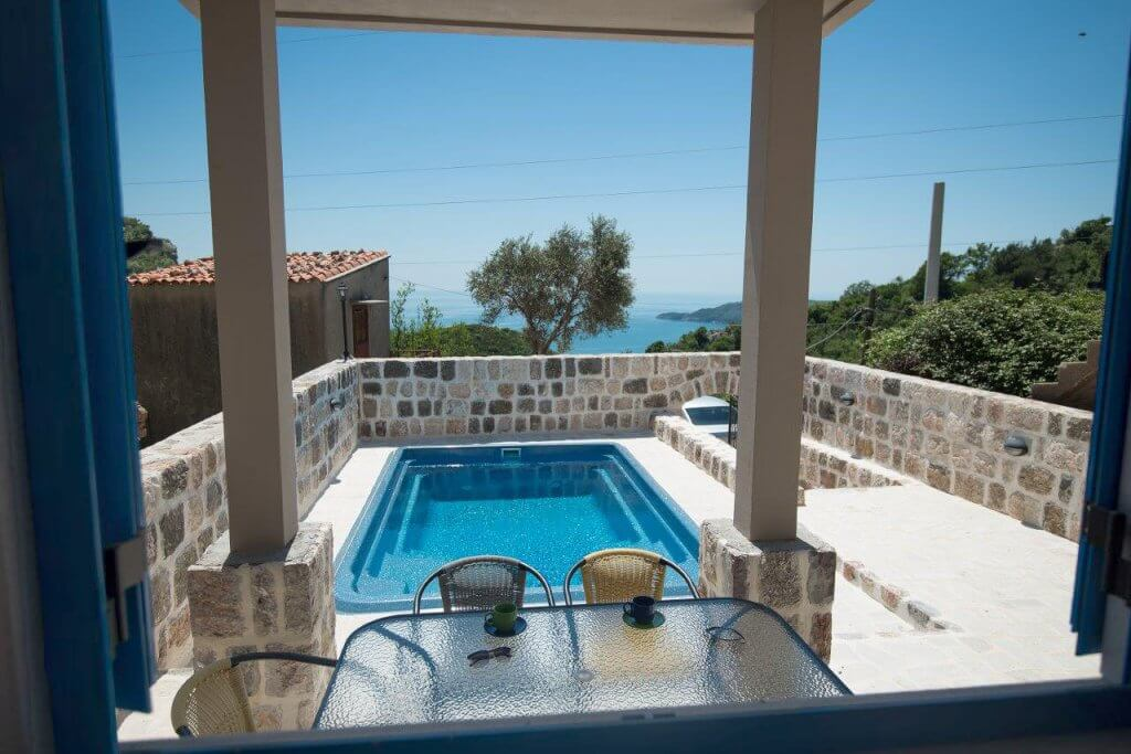Budva, Becici - renovated stone house 70m2, with swimming pool