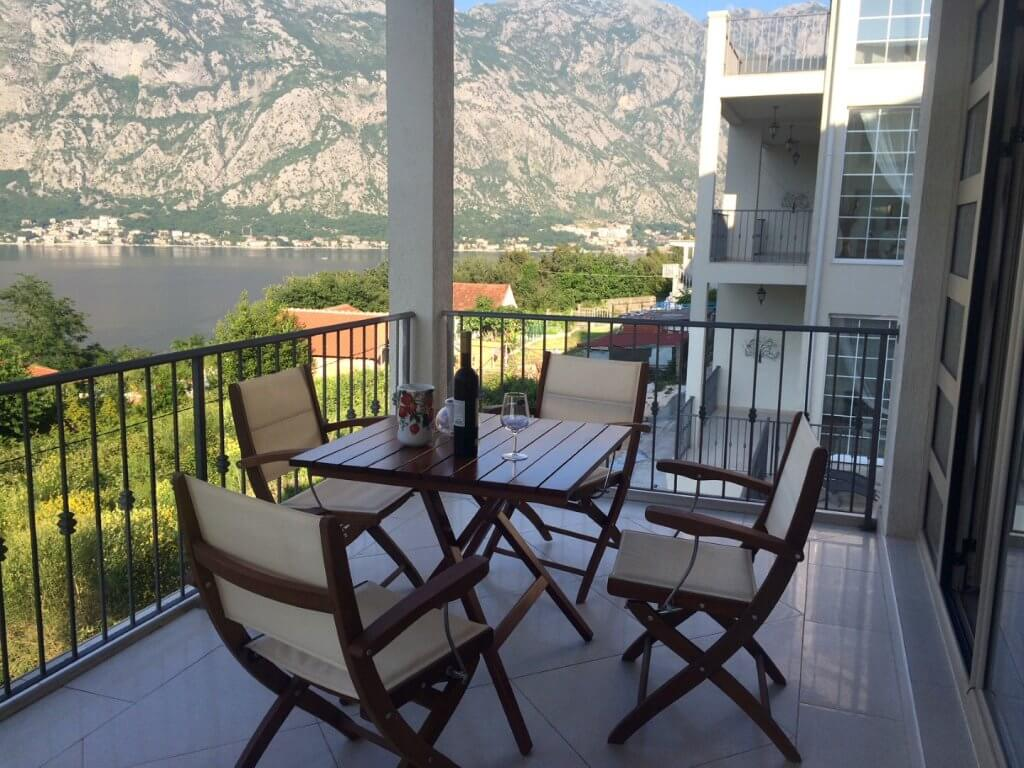 Kotor, Prcanj – two bedroom apartment with garage and panoramic sea view