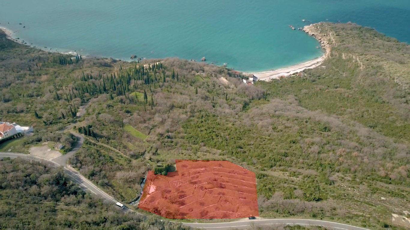 Budva, Drobni Pijesak – urbanizovano zemljište 5,165m2, blizu mora