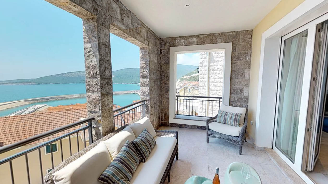 Tivat, Lustica Bay — трехкомнатная квартира с открытым видом на море
