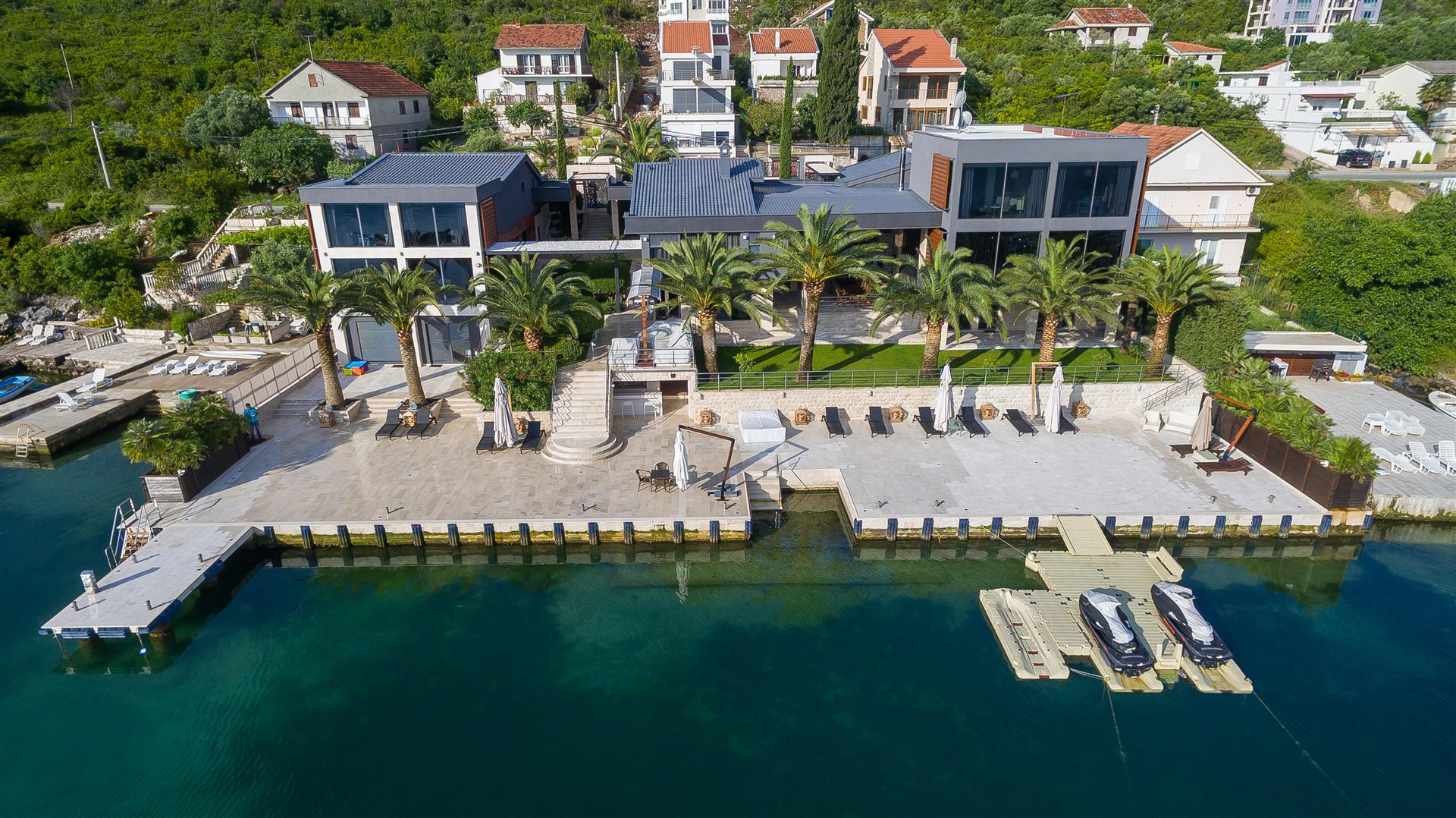 Tivat, Krtole– exceptional waterfront estate, with more than 60m of private direct beach access
