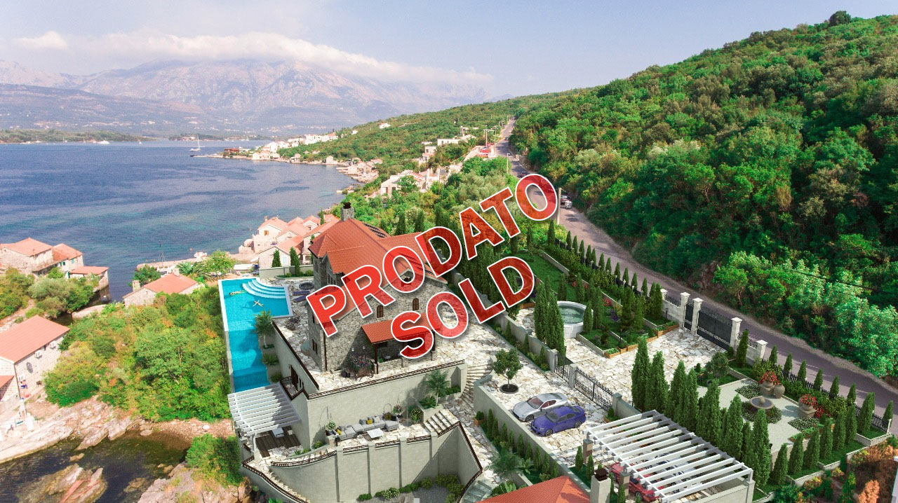 Tivat, Kakrc – urbanized plot of 1.489m2, on the first line to the sea