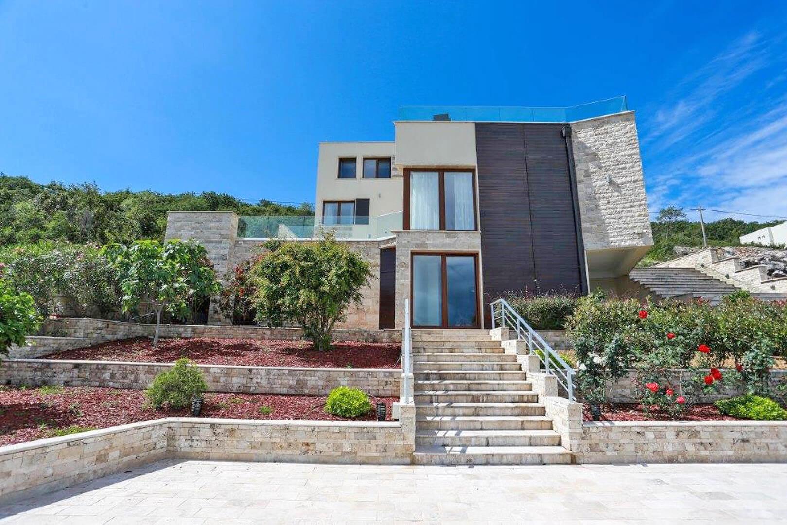 Tivat, Kakrc – beachfront villa of 517m2, on a land plot of 2,228 m2