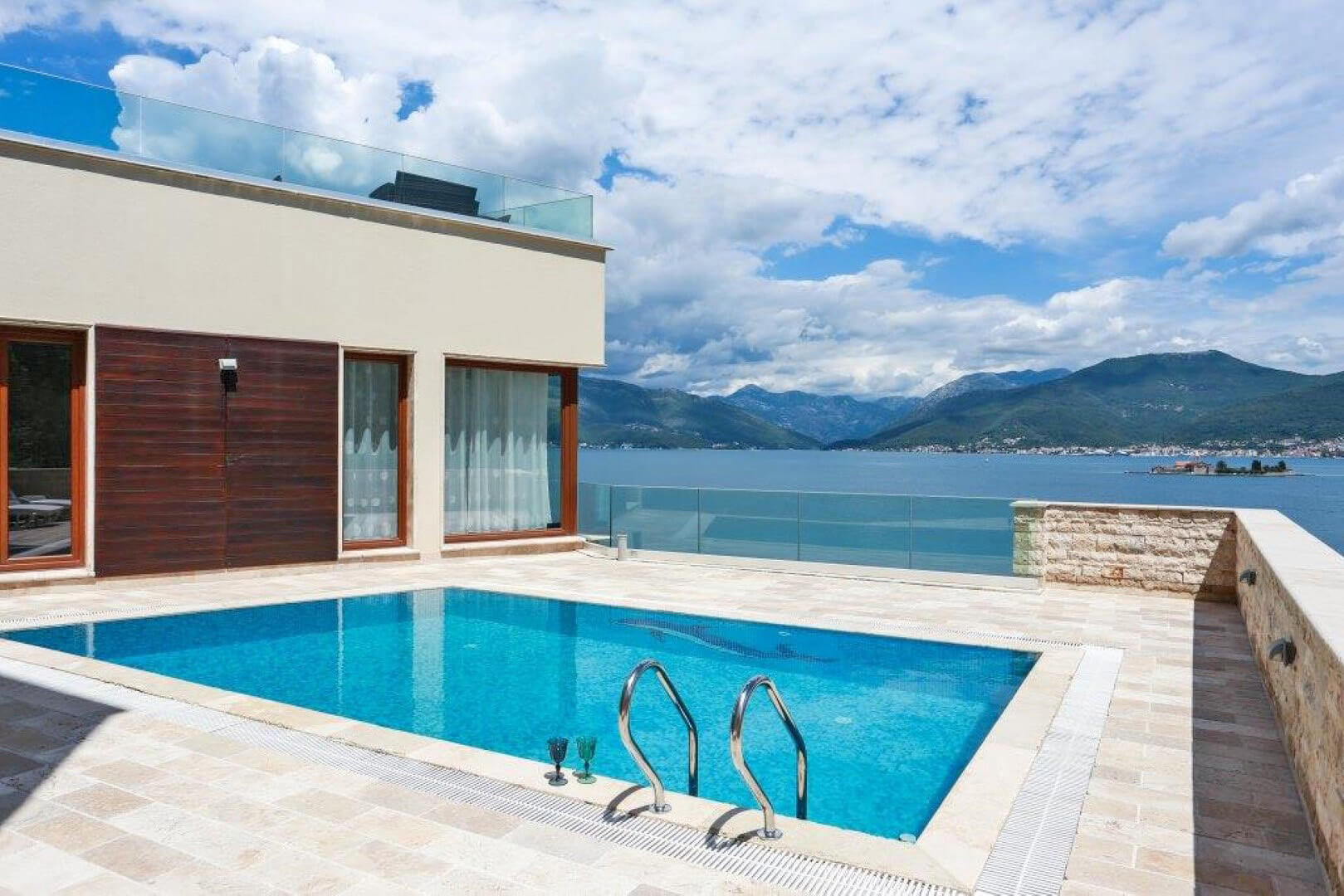 Tivat, Kakrc – beachfront villa of 517m2, on a land plot of 2,228 m2
