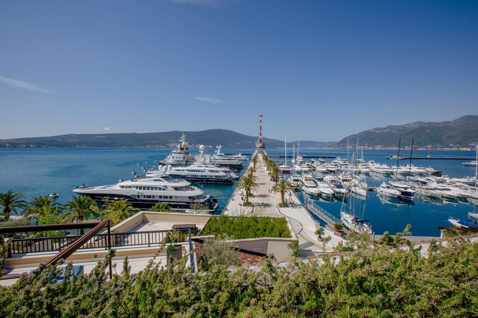 Tivat, Porto Montenegro – unique four-bedroom apartment, with open view of the marina and the sea