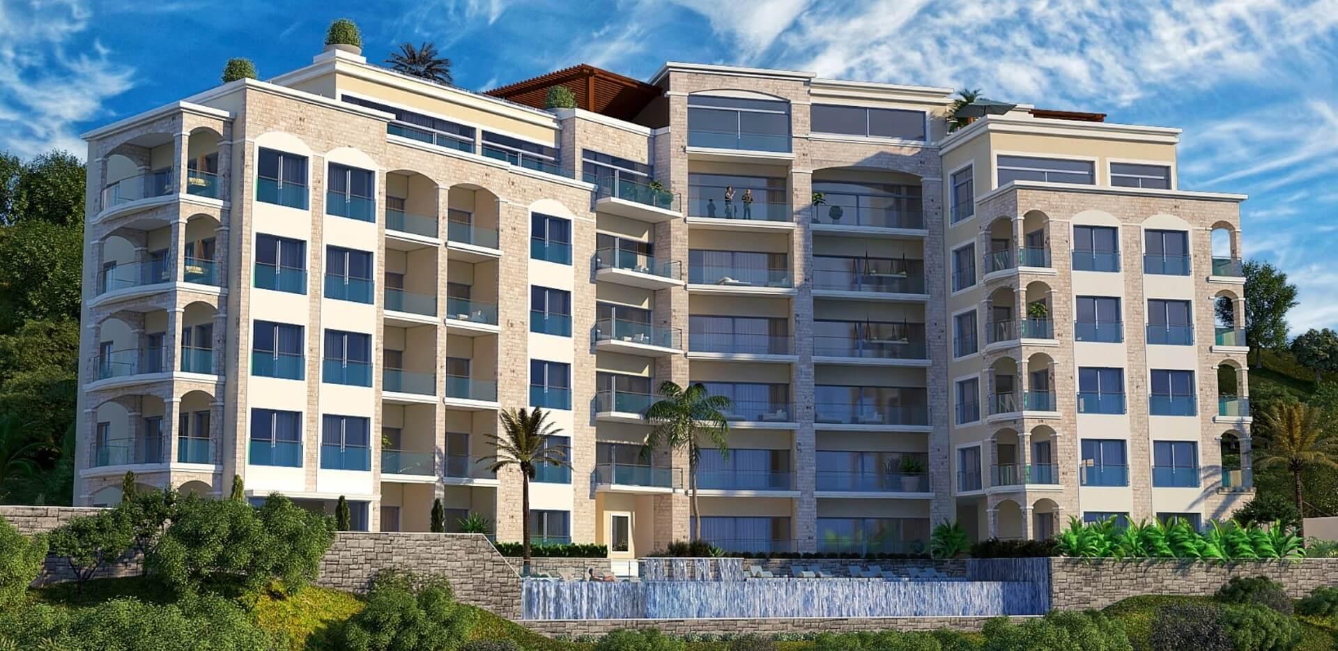 Budva, Bečići – jednosoban apartman u kompleksu s panoramskim pogledom na more