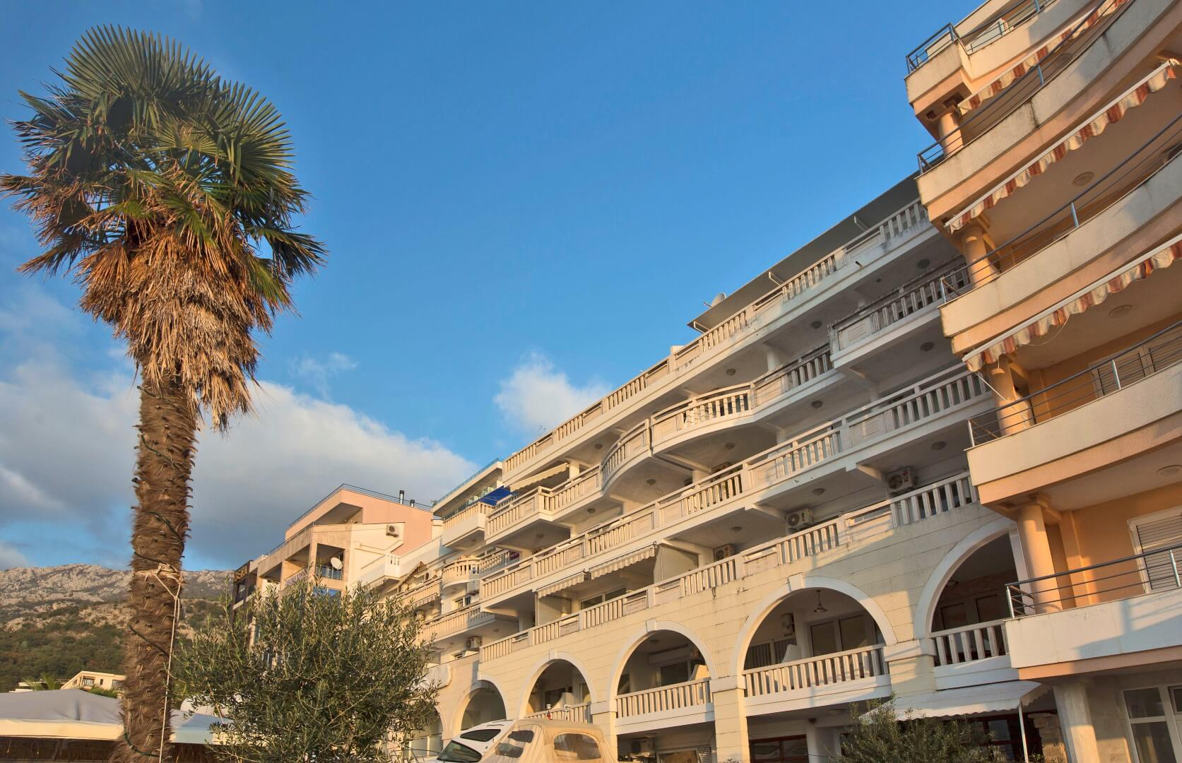 Budva, Rafailovici – two bedroom apartment 69m², on the first line to the sea