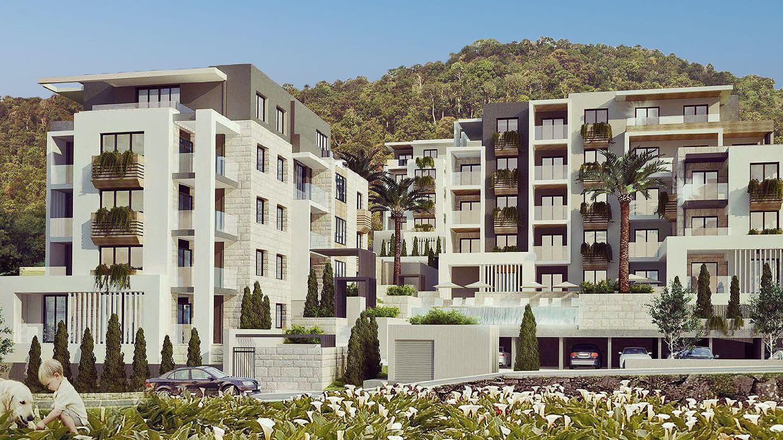 Tivat, centar – apartmani u luksuznom stambenom kompleksu s bazenom