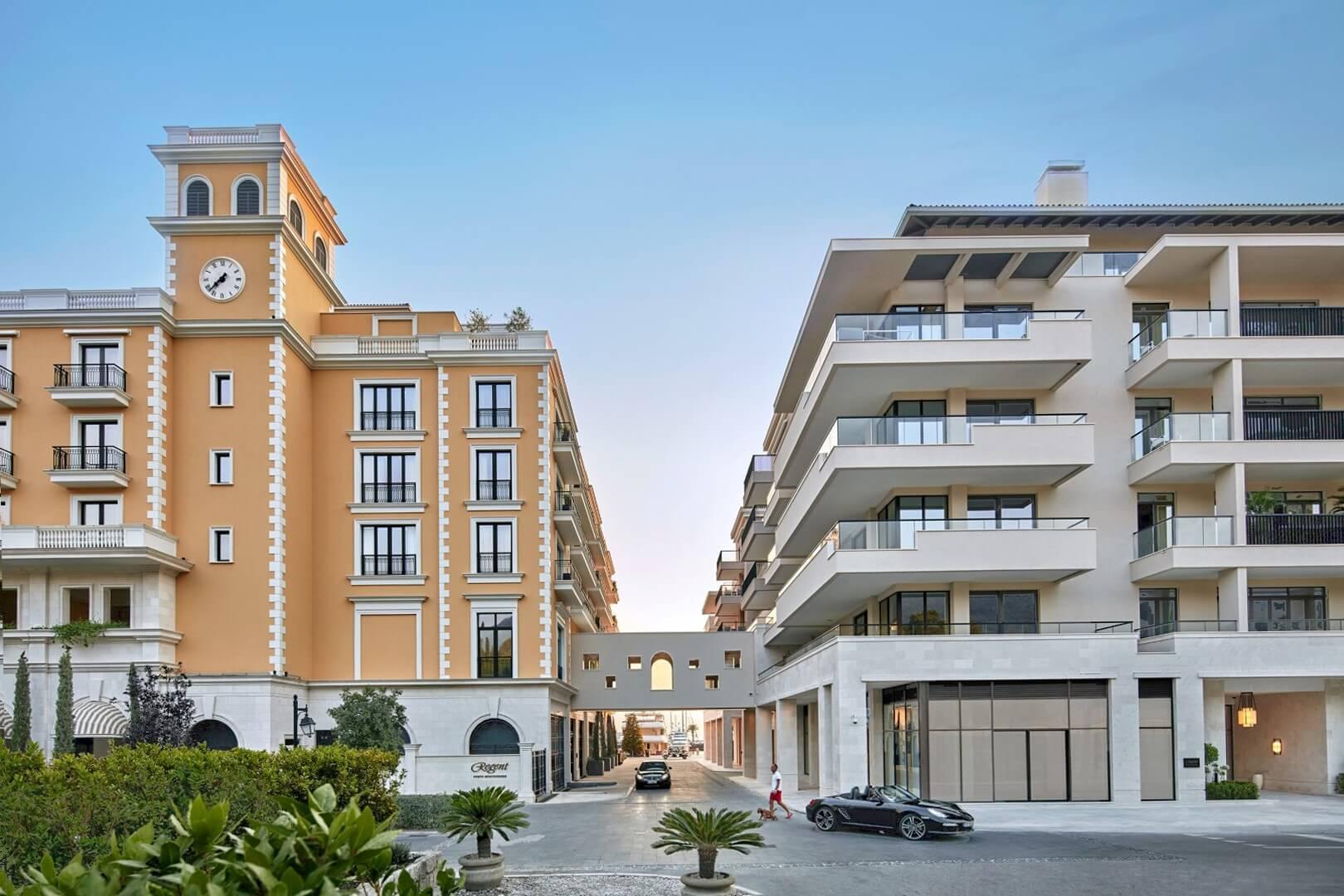 Тиват, Порто Монтенегро — квартира с двумя спальнями в здании Aqua, Regent Pool Club
