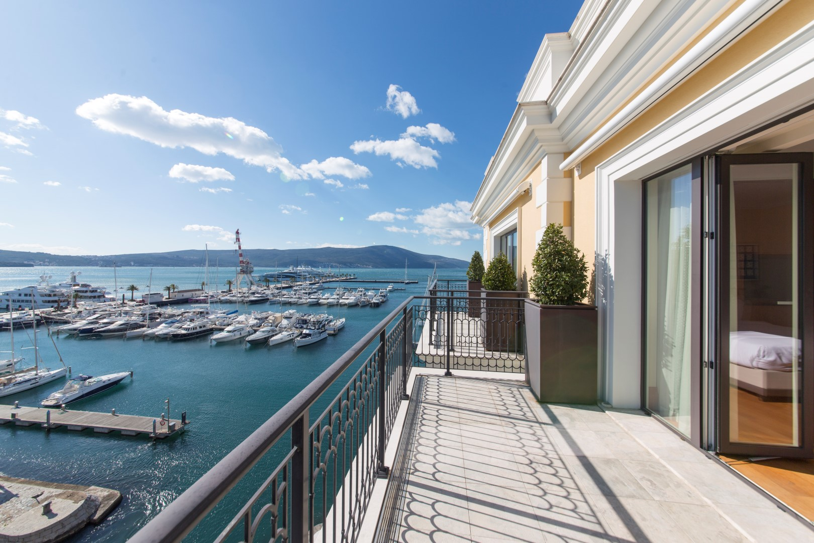 Tivat, Porto Montenegro – three bedroom apartment with open sea view, Regent hotel