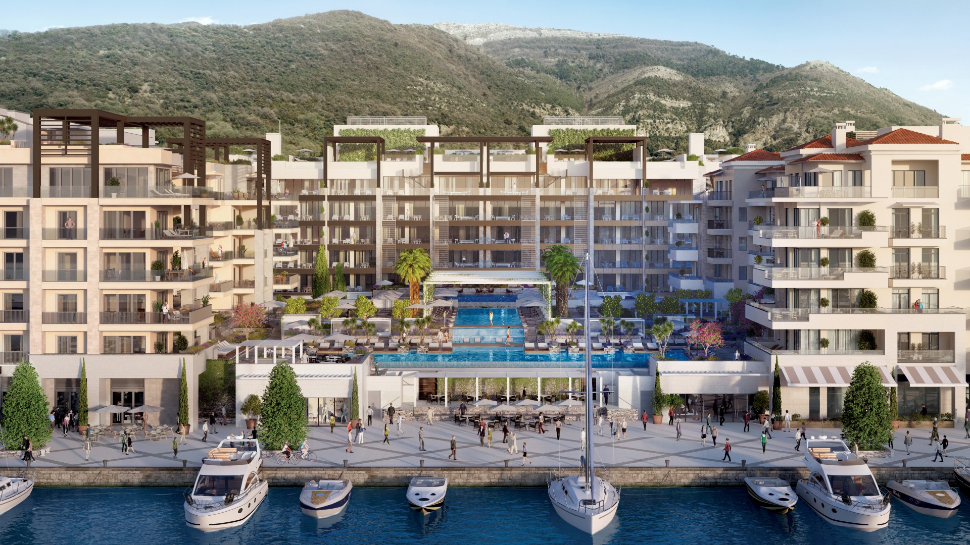 Tivat, Porto Montenegro – one bedroom exclusive apartment in Elena Residence