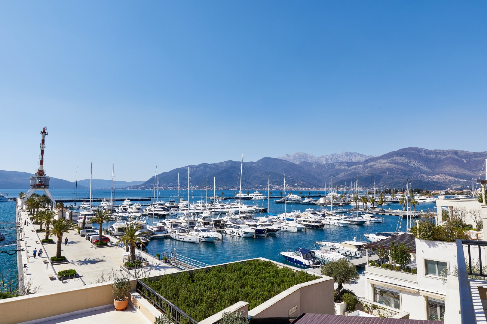 Tivat, Porto Montenegro - exclusive apartment of 380m2, with open sea view, Teuta building
