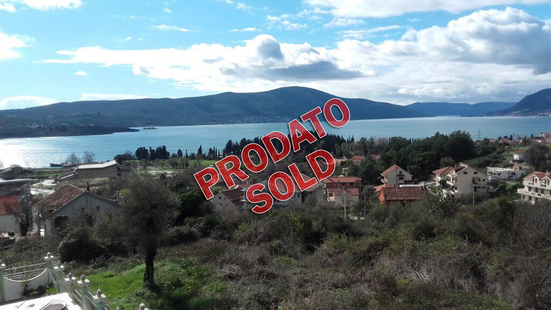 Tivat, Zupa – urbanized plots 302m2-705m2, with excellent views of the sea
