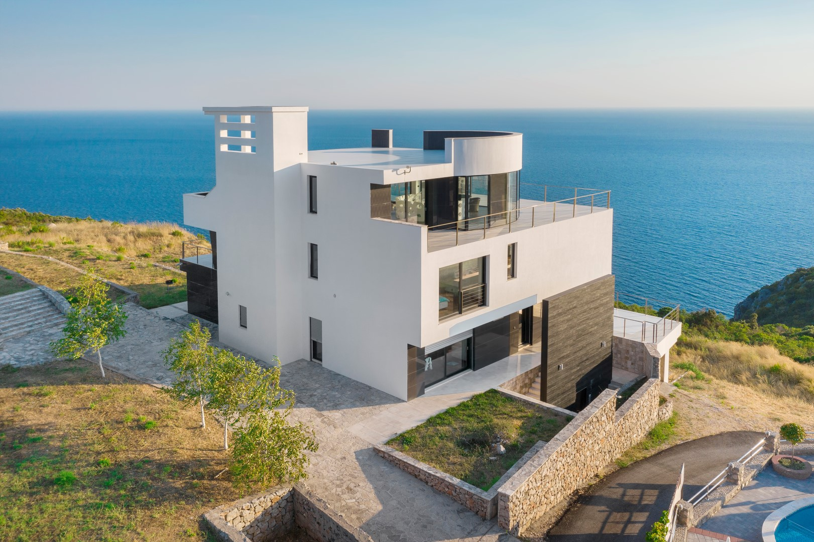 Kotor, Krimovica – exclusive contemporary villa with panoramic sea views