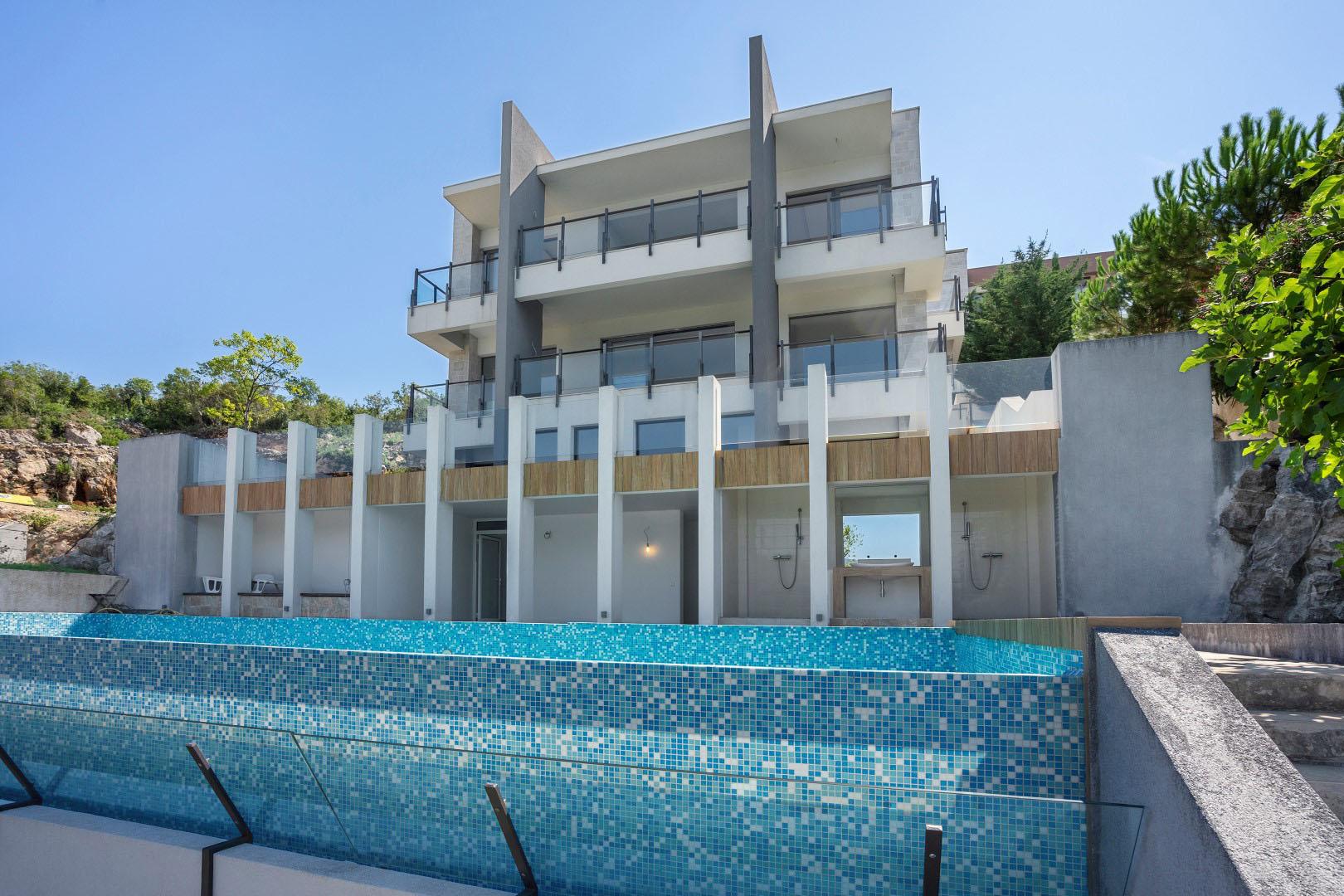 Тиват, Какрц — эксклюзивная вилла на берегу моря с частным пляжем