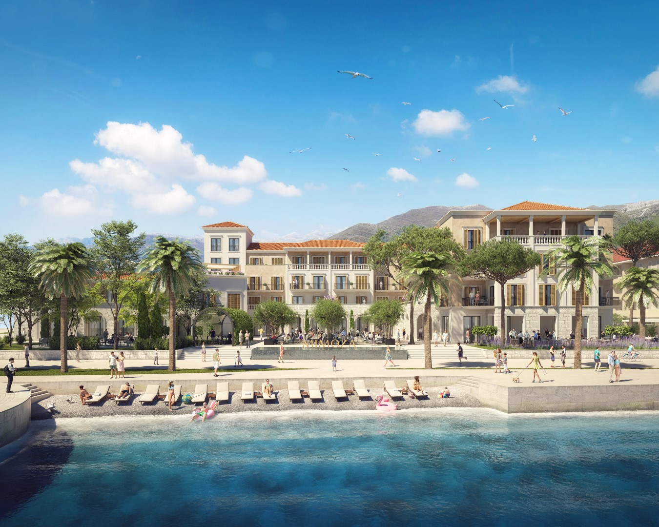 Tivat, center – hotel and residential complex Mimoza