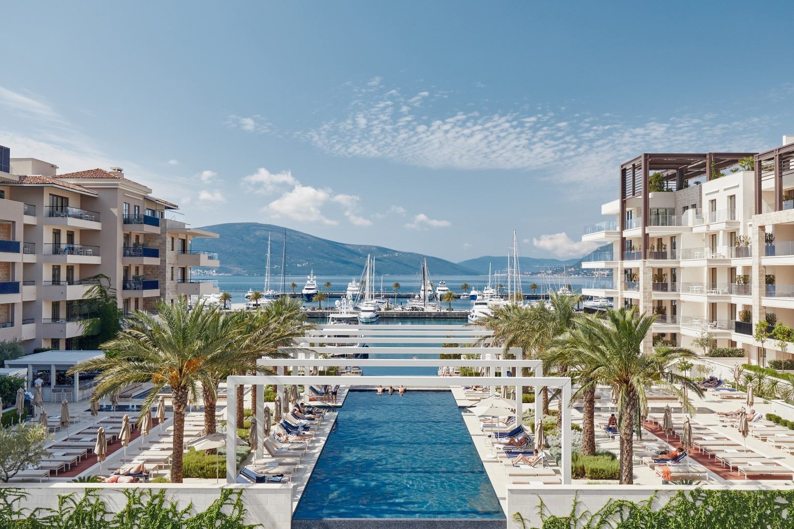 Tivat, Porto Montenegro – exclusive apartments, Elena residences, Regent Pool Club