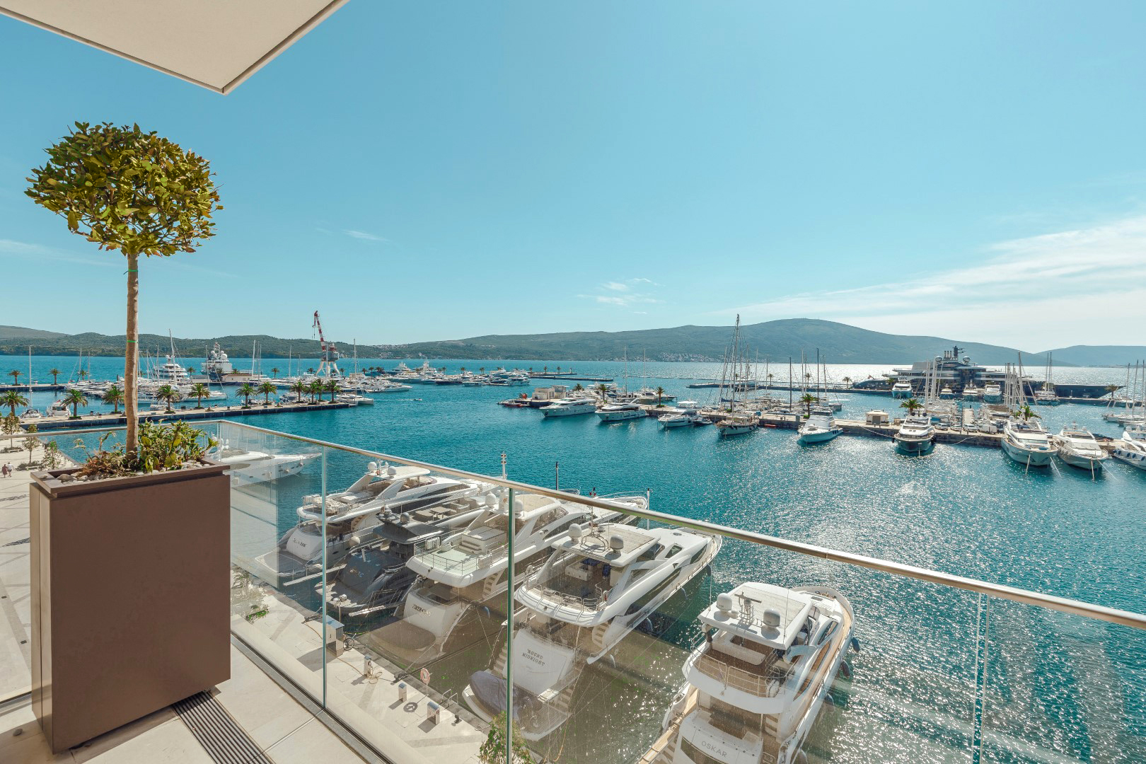 Porto Montenegro, Baia building – seafront two-bedroom apartment