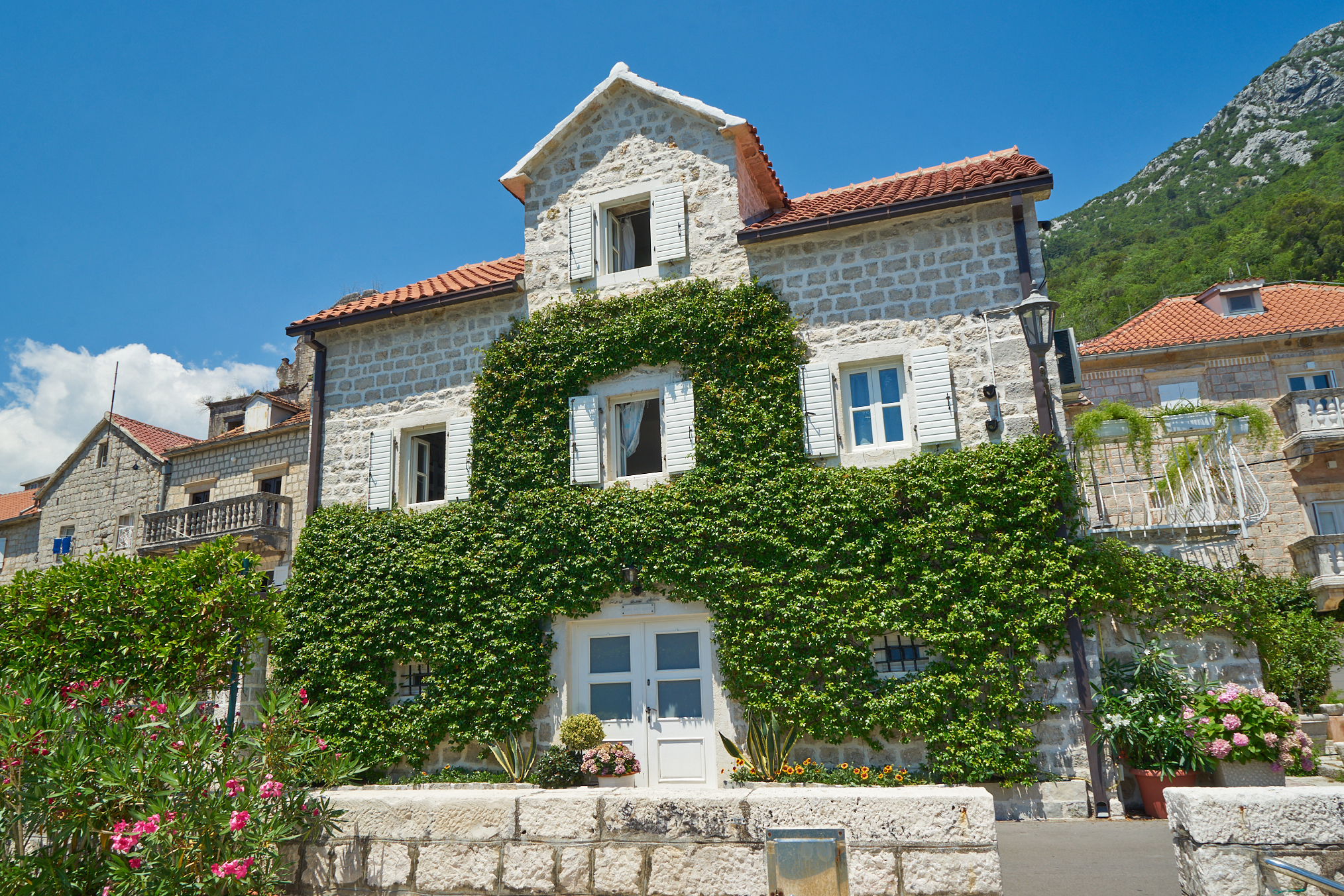 Kotor, Perast - authentic waterfront stone villa