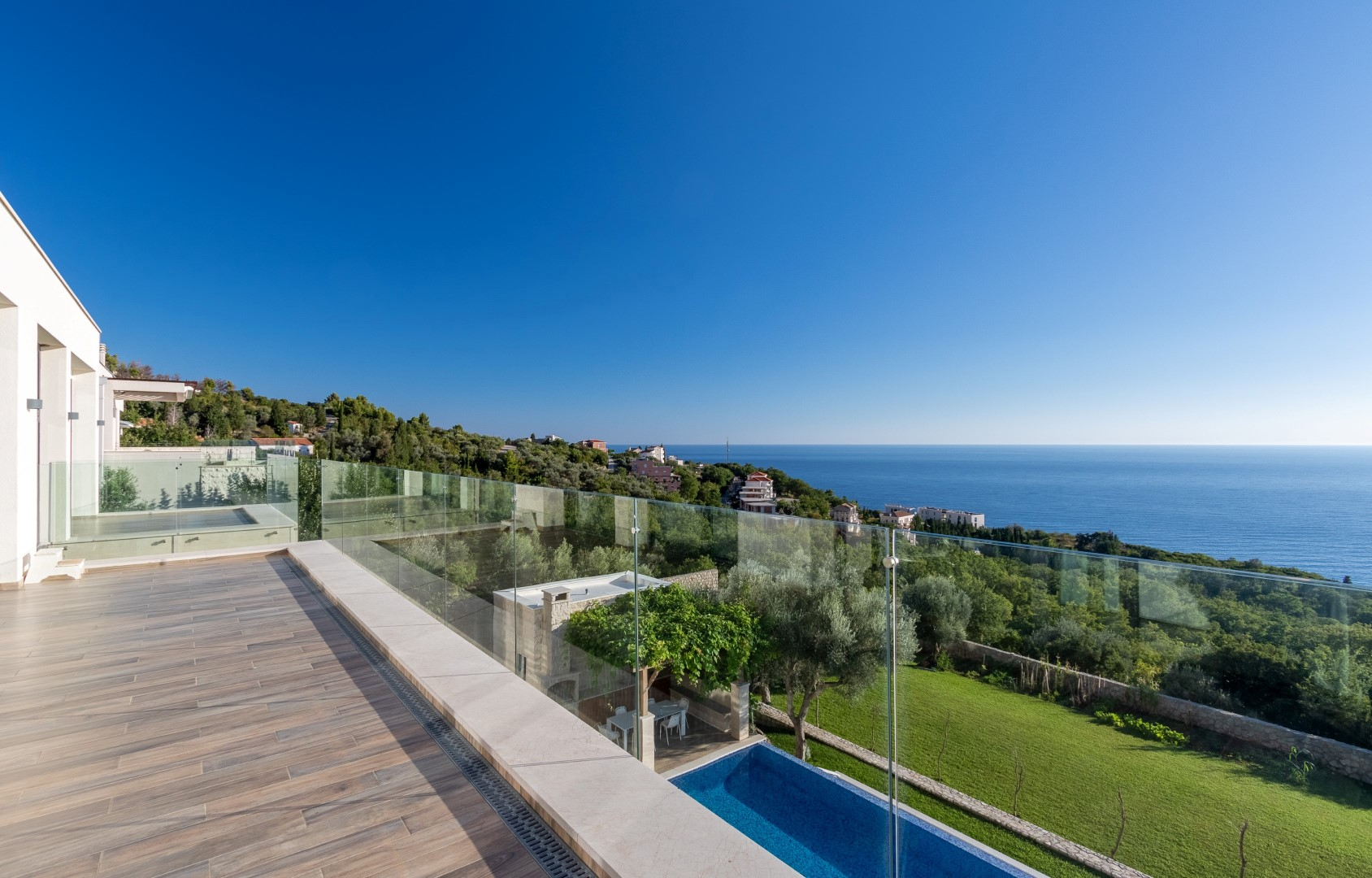 Budva, Rezevici – contemporary villa in a unique location