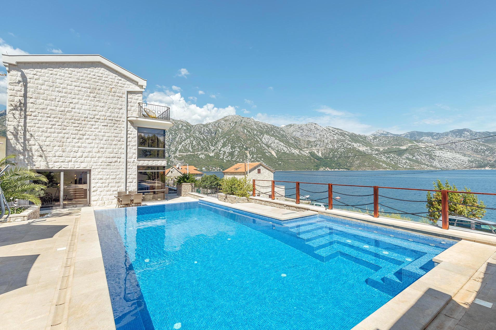 Kotor, Kostanjica – modern villa on the first line of the sea