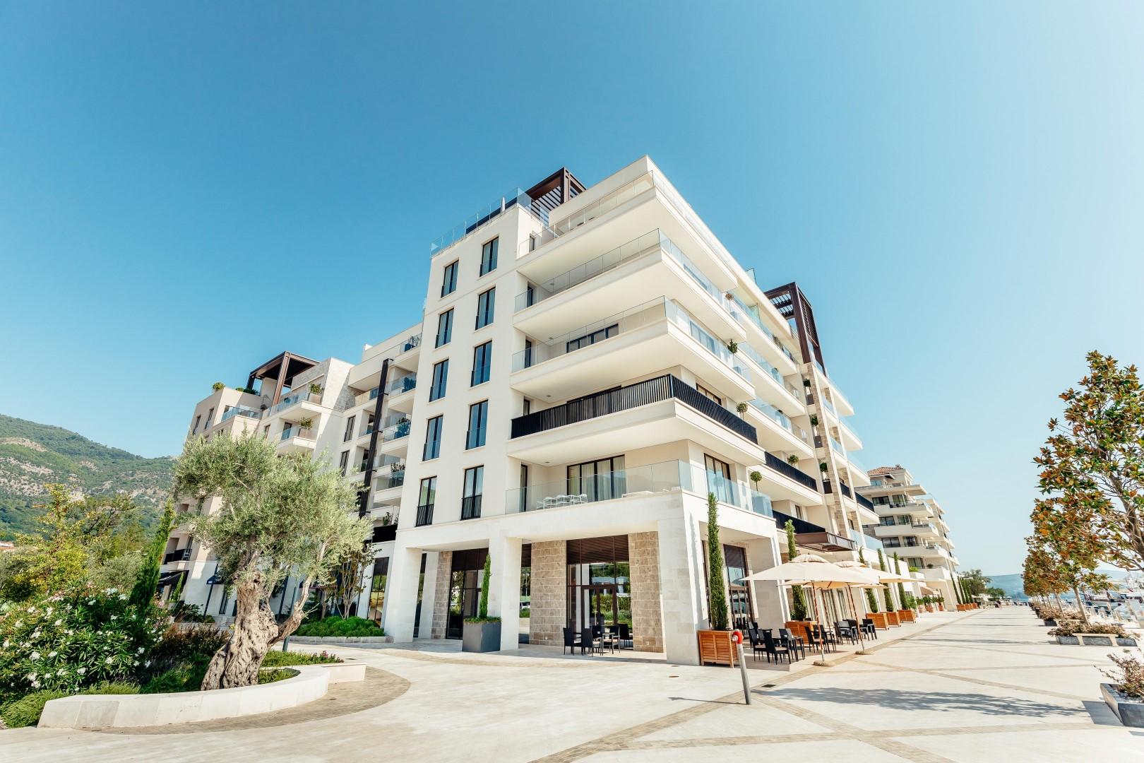 Tivat, Porto Montenegro – jednosoban apartman sa pogledom na more, zgrada Baia