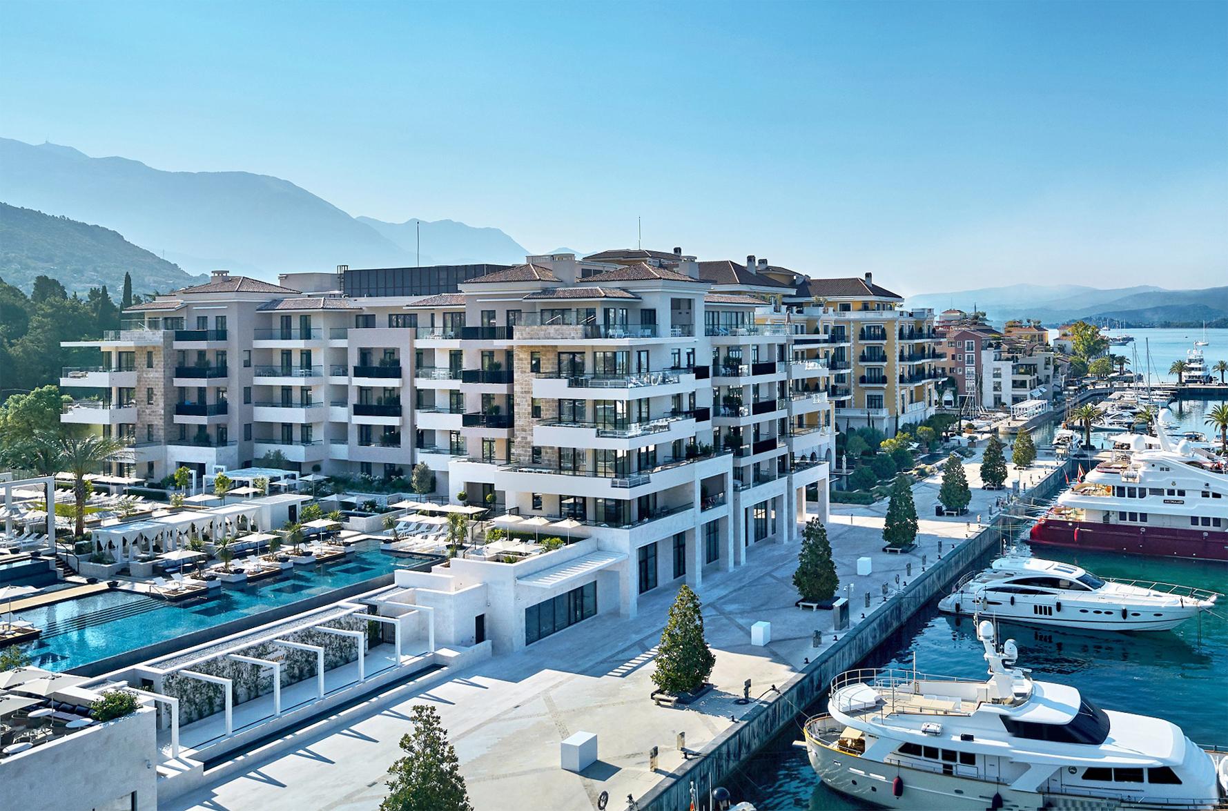 Tivat, Porto Montenegro- jednososban apartman u zgradi Aqua, Regent Pool Club Residences