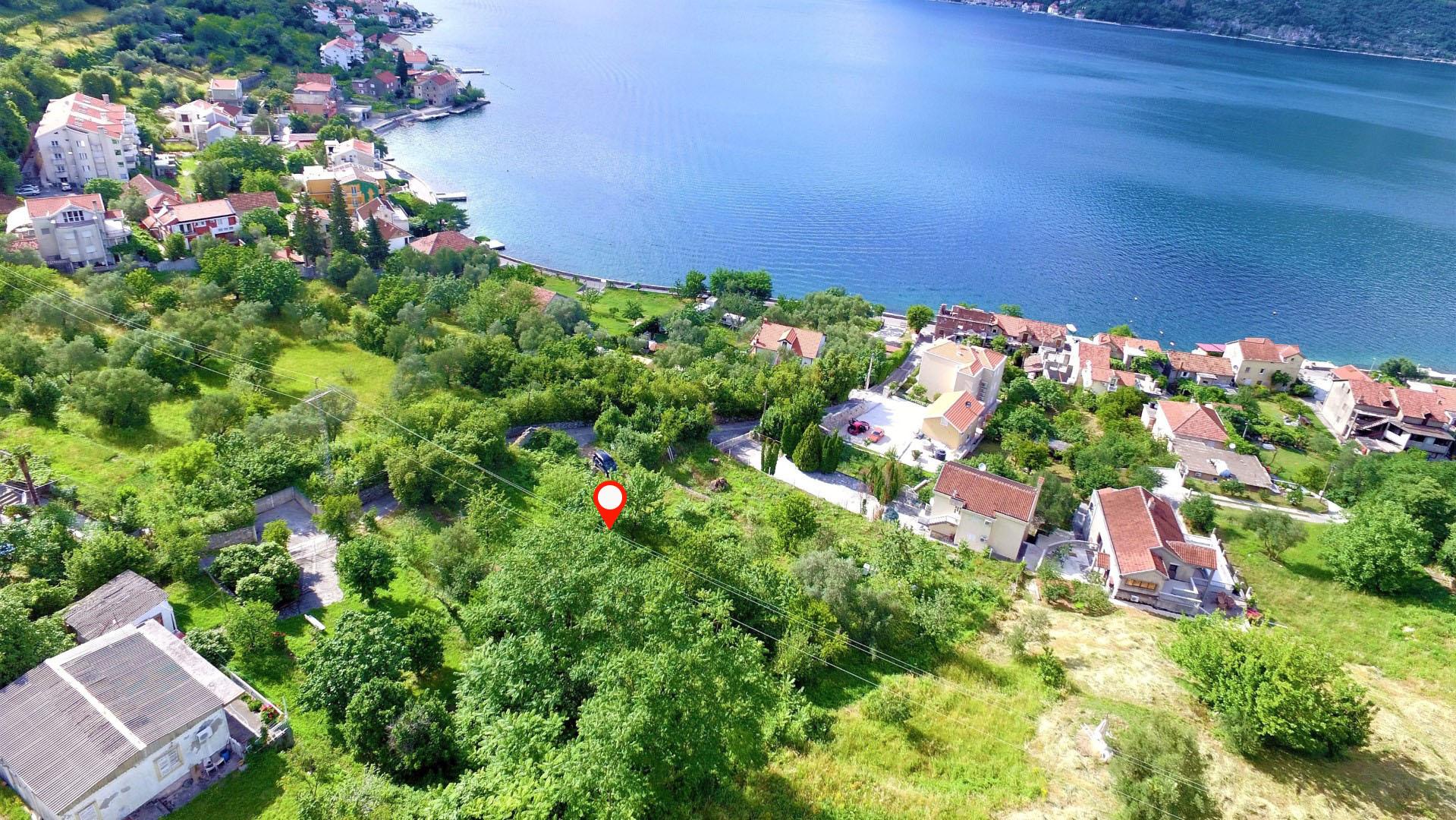 Котор, Столив - участок под застройку с панорамным видом на море