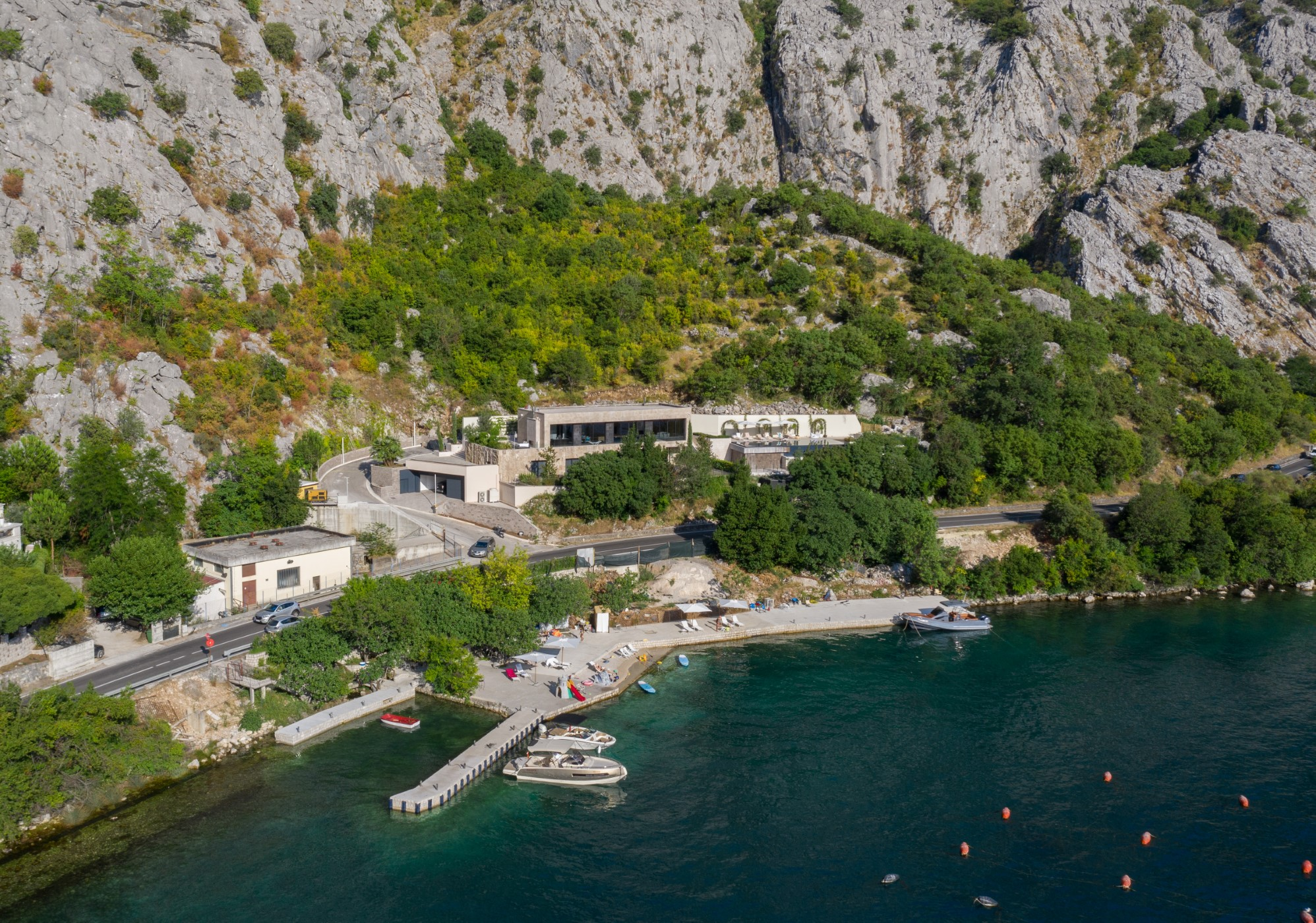 Kotor, Orahovac - newly built contemporary villa on the first line to the sea with outdoor pool and beach