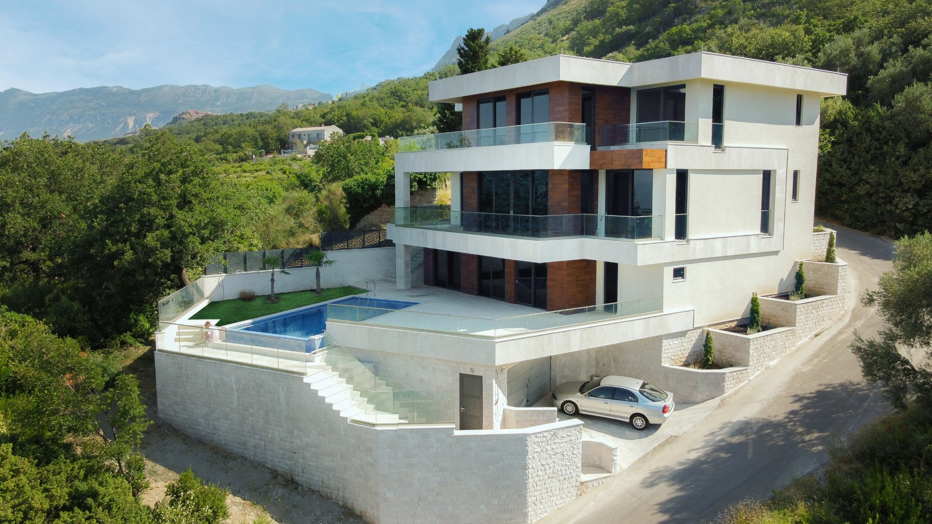 Budva, Rezevici – contemporary designer villa with panoramic sea view